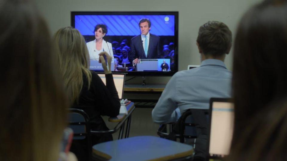 El Observatorio Pulsar de la UBA midió en tiempo real la reacción de los votantes.