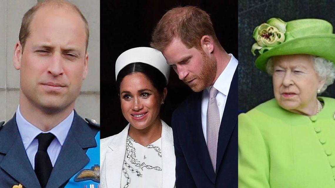 La reina Isabel y William, furiosos con las picantes declaraciones de Meghan y Harry
