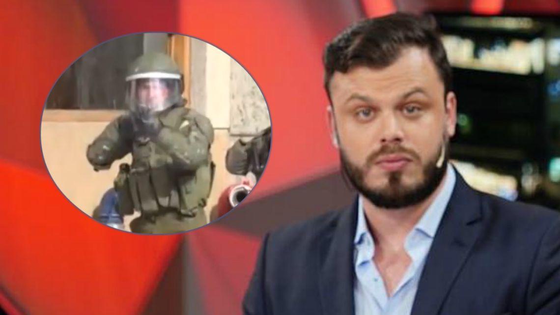 VIDEO | Un periodista de TN recibió un disparo en las protestas de Chile