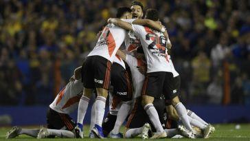 River festeja el pase a la final de la Copa Libertadores.