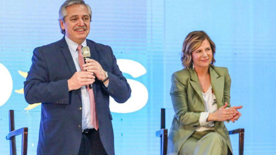 Alberto Fernández y Florencia Saintout
