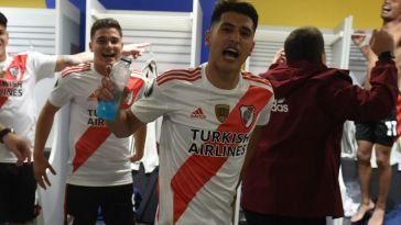 River festejó en el vestuario de la Bombonera y se acordó de Boca.
