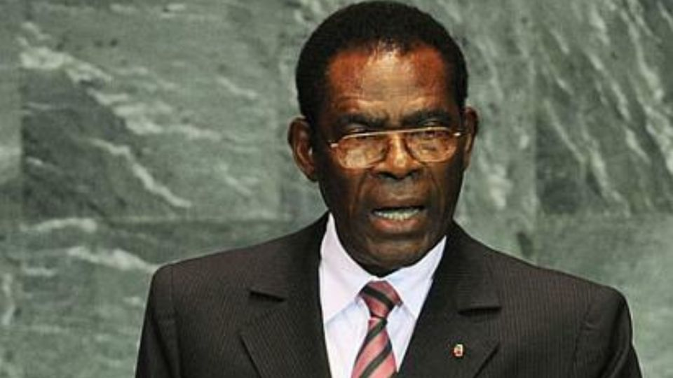 Teodoro Obiang Nguema Mbasogo, el presidente de Guinea Ecuatorial.