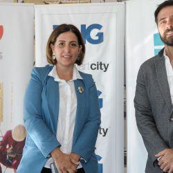 Virginia Laino, Directora de Prevención de Emergencias bonaerense, y Braulio Bauab, agente inmobiliario. | Foto:Juan Ferrari