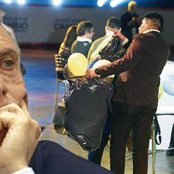 Una escena de la dramática noche de las PASO, cuando el Presidente vivió sus peores horas y empezó el desbande.  | Foto:cedoc