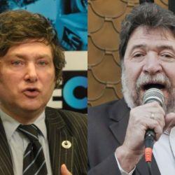 Los economistas Javier Milei y Claudio Lozano. | Foto:Cedoc