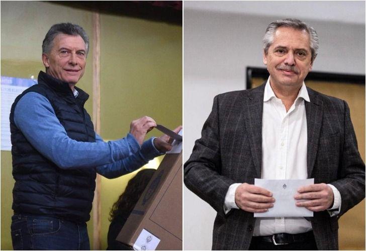 Mauricio Macri, Alberto Fernández.