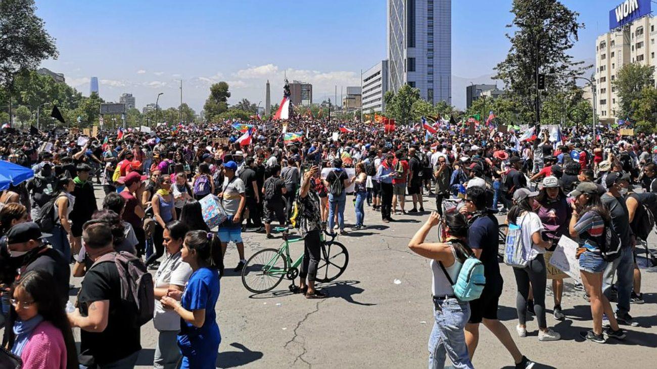 Así avanza el séptimo día de protestas en Chile