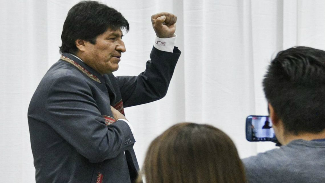 Bolivian President Evo Morales claims victory in the election amid opposition protest