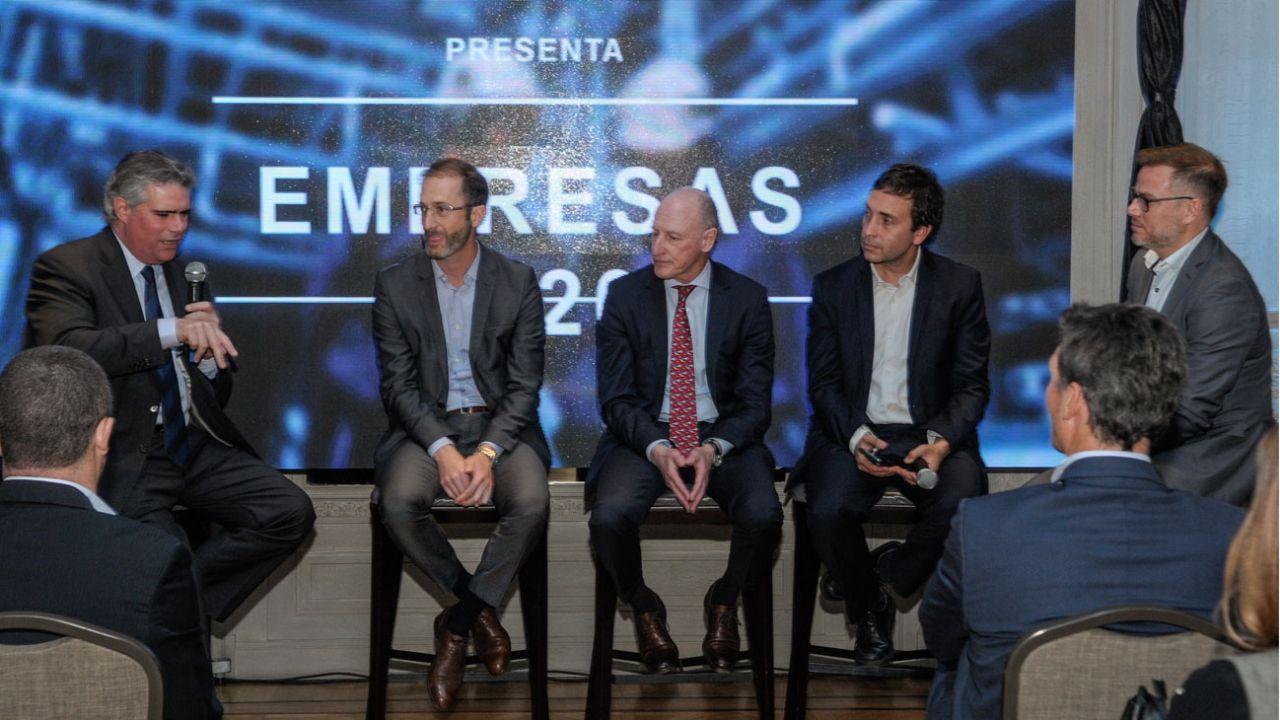 Carlos Zarlenga, Federico Trucco, Luis Fontana, Alejandro Rebossio y Maximiliano Sardi.   Foto:Juan Ferrari