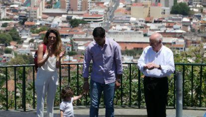Lavagna y Urtubey, junto a Isabel Macedo, en Salta.