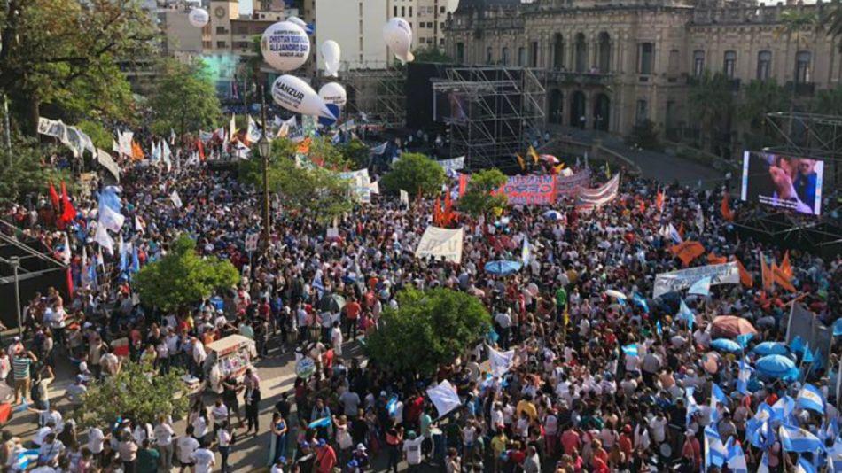 Acto de Manzur en Tucumán