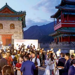 Festejo. Catena Zapata celebró en septiembre en la Muralla china la obtención de 100 puntos para cinco de sus vinos. | Foto:Catena Zapata