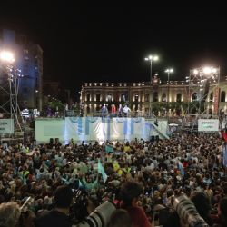 Supporters attended the campaign closure of President Mauricio Macri, who seeks reelection with the Juntos por el Cambio party, in Córdoba, Argentina.