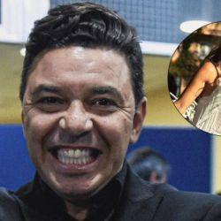 Marcelo Gallardo y Geraldine La Rosa