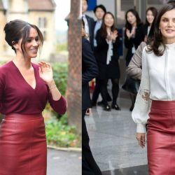 Meghan Markle vuelve a copiarle el look a la reina Letizia