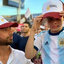 Salvai con gorra de Vidal   Foto:Cedoc