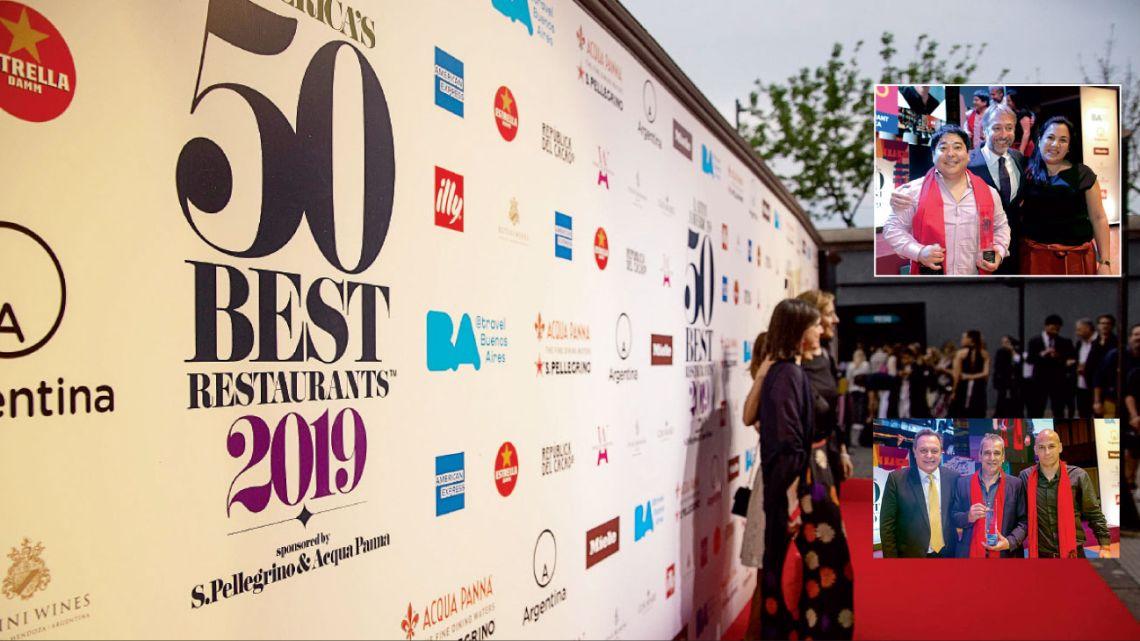 Ganadores. Mitsuharu Tsumura, el chef de Maido, el restaurante peruano que ocupa el primer puesto  en los últimos años. Abajo, el equipo de Don Julio,  el restaurante argentino que llegó más alto, al cuarto lugar.   | Foto:Fotos: Gentileza Latin America's 50 Best Restaurants y Cedoc.