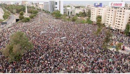 Masiva marcha en Chile.