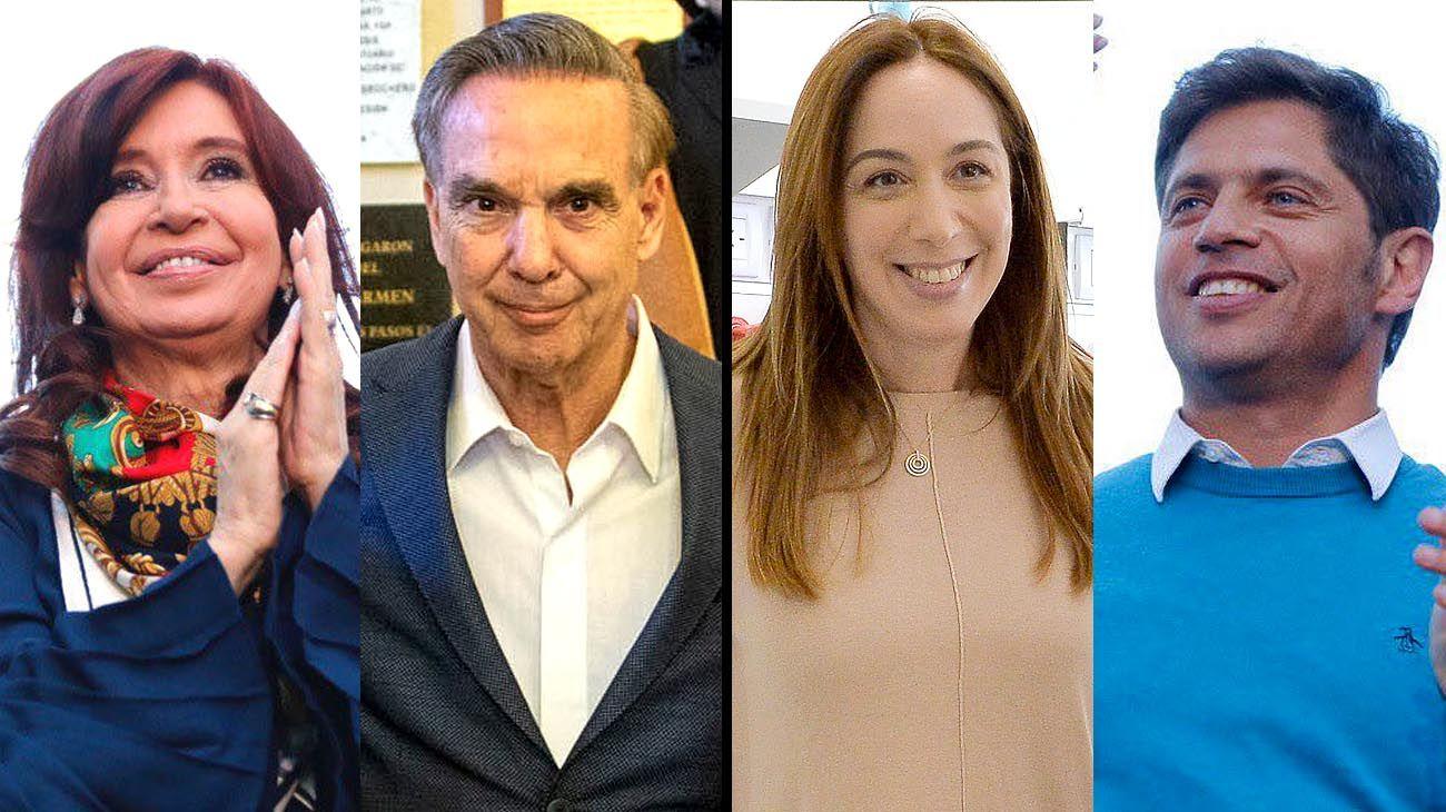 Cristina Kirchner, Miguel Angel Pichetto, Maria Eugenia Vidal y Axel Kicillof