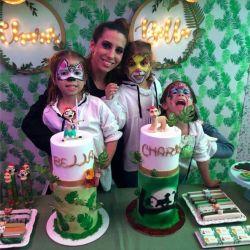 El festejo de cumpleaños de las hijas de Cinthia Fernández con motivo del Rey León