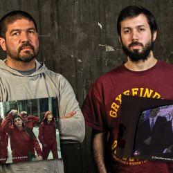 Santiago Gima y Fermín Kalesnik, creadores de los spots del Frente de Izquierda | FOTO: Juan Ferrari. | Foto:Juan Ferrari