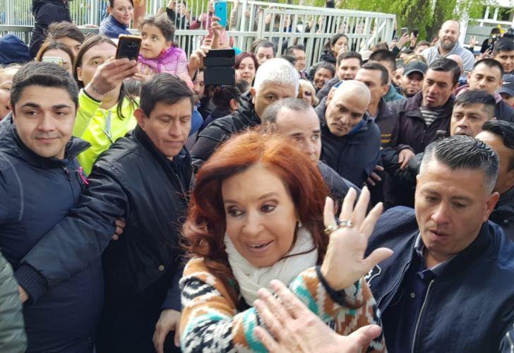 Cristina Kirchner votó en Santa Cruz.