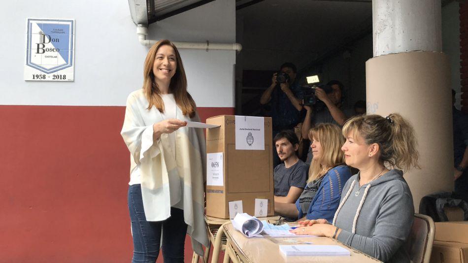Maria Eugenia Vidal votando elecciones 27 octubre 2019