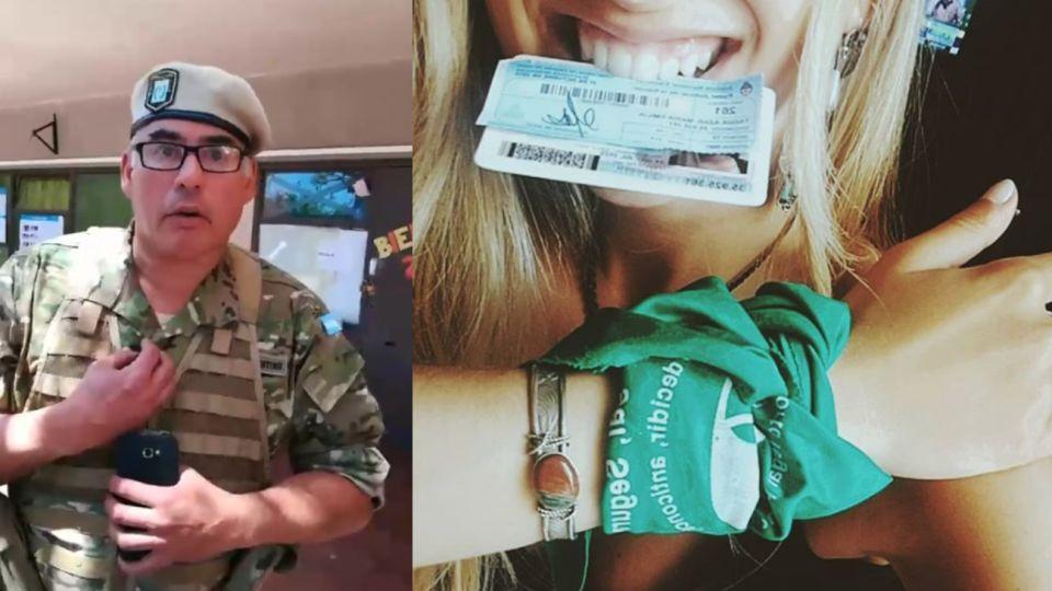 Mendoza. Un gendarme quiso impedir que una joven pañuelo verde vote.