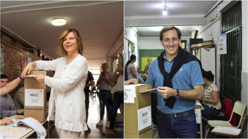 Florencia Saintout y Julio Garro.