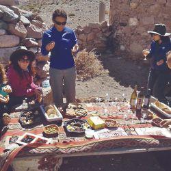 Momento del picnic gourmet.