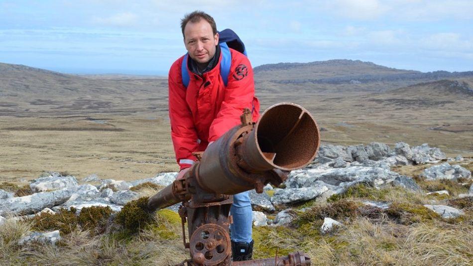 Iván Ambroggio en las Islas Malvinas