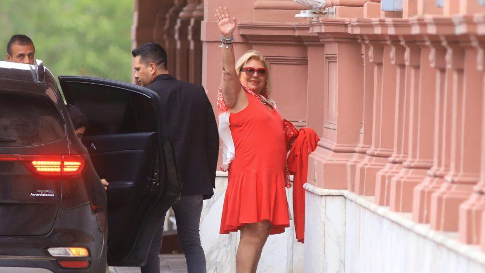 Lilita Carrió visitó al Presidente en Casa Rosada.