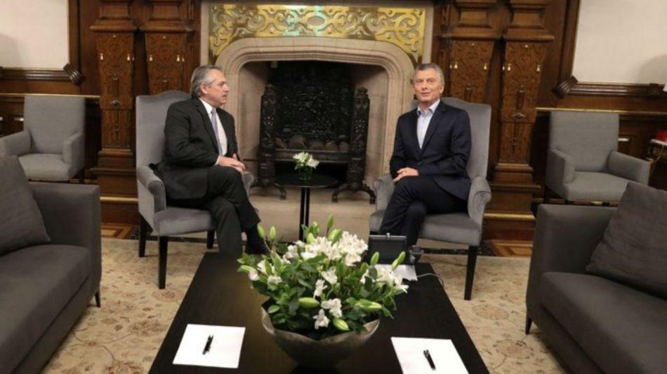 Mauricio Macri recibió a Alberto Fernández en la Casa Rosada.