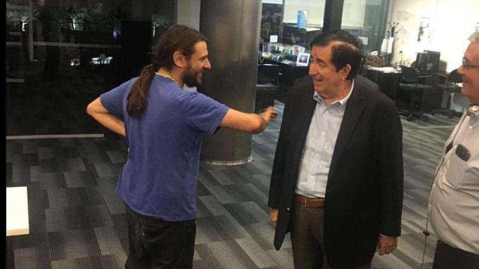 El encuentro en Perfil de Juan Grabois y Jaime Duran Barba.