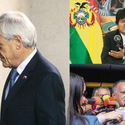 Los presidentes de Chile, Ecuador, Bolivia. | Foto:Cedoc