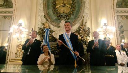 Maurcio Macri en Casa Rosada al asumir el mando en diciembre de 2015.