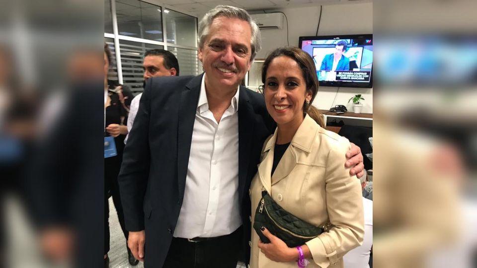 Alberto Fernández y Vanesa Noble de Herrea