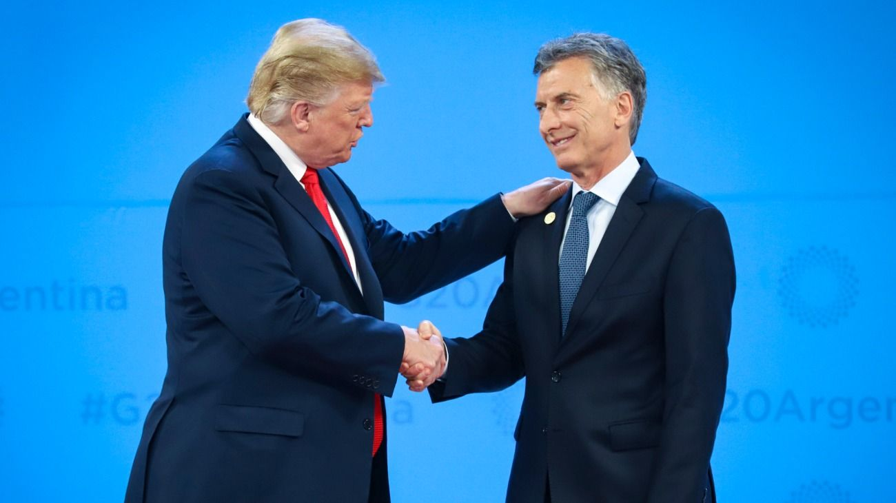 Donald Trump junto a Mauricio Macri.