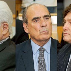 Jorge Asís, Guillermo Francos y Javier Milei. | Foto:Marcelo Escayola