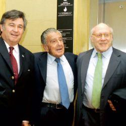 Marcelo Elizondo, Daniel Pelegrina, Eurnekian, Julio Crivelli y Acevedo. | Foto:Marcelo Escayola