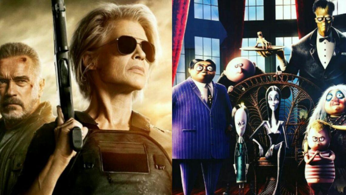 Terminator, destino oculto y Los locos Adams, entre las películas más esperadas de la cartelera