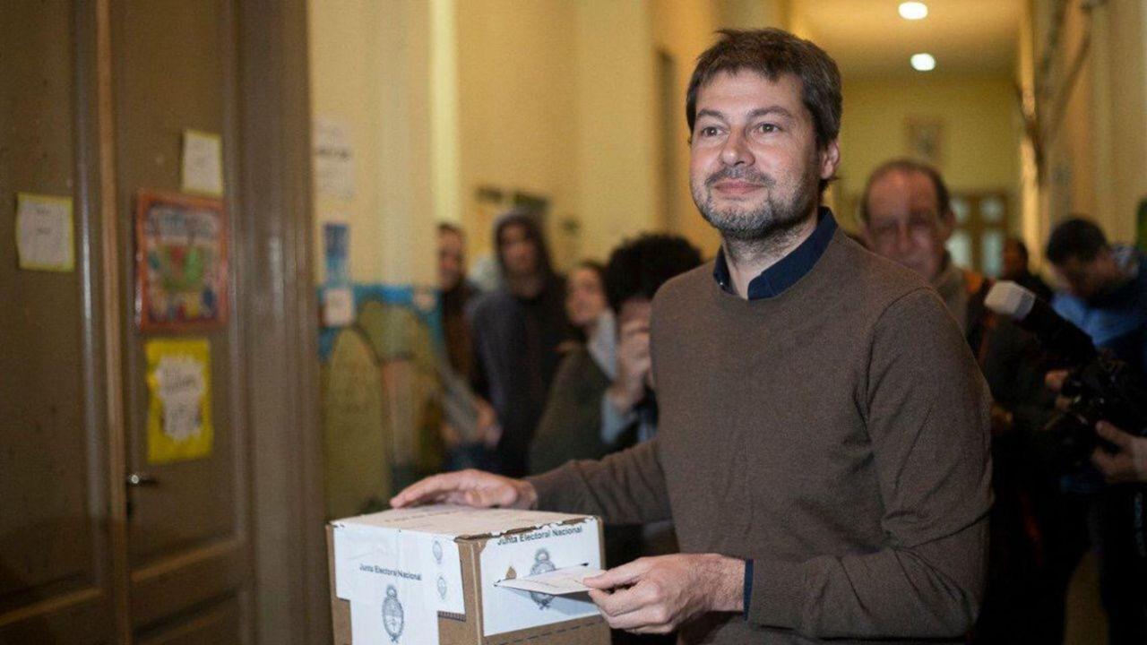 Matías Lammens, presidente de San Lorenzo y candidato K en la Ciudad. | Foto:cedoc