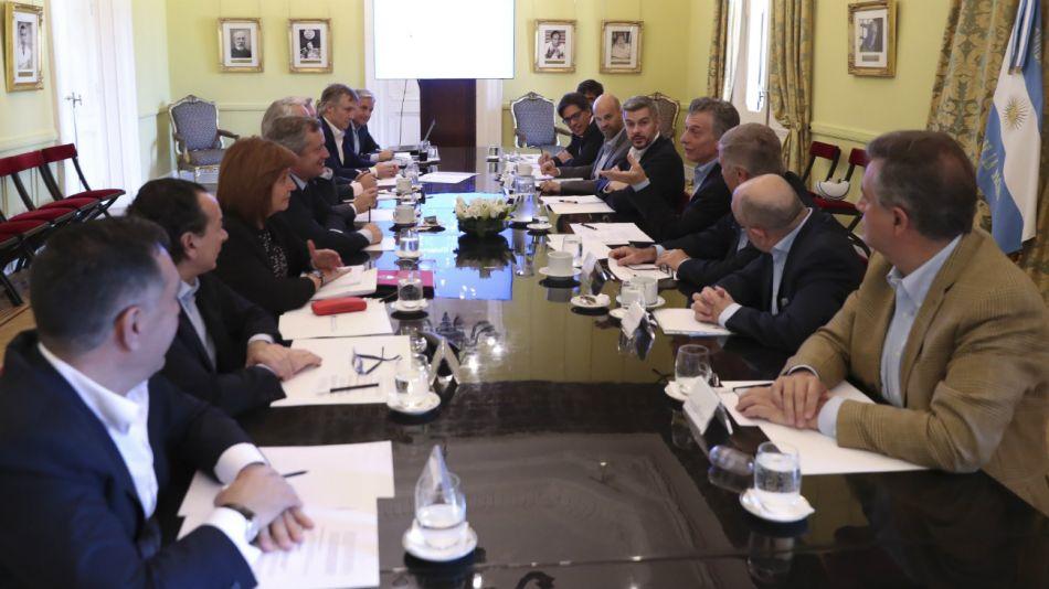 Macri en reunión de gabinete.