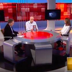 En tevé. Dujovne y Pagni entrevistaron a Ibarra. | Foto:Cedoc.