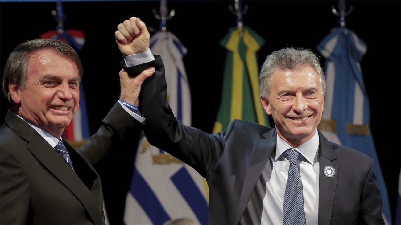Jair Bolsonaro y Mauricio Macri.