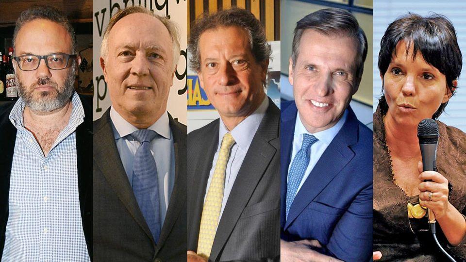 Kulfas, Nielsen, Pesce, Redrado y Marco Del Pont.