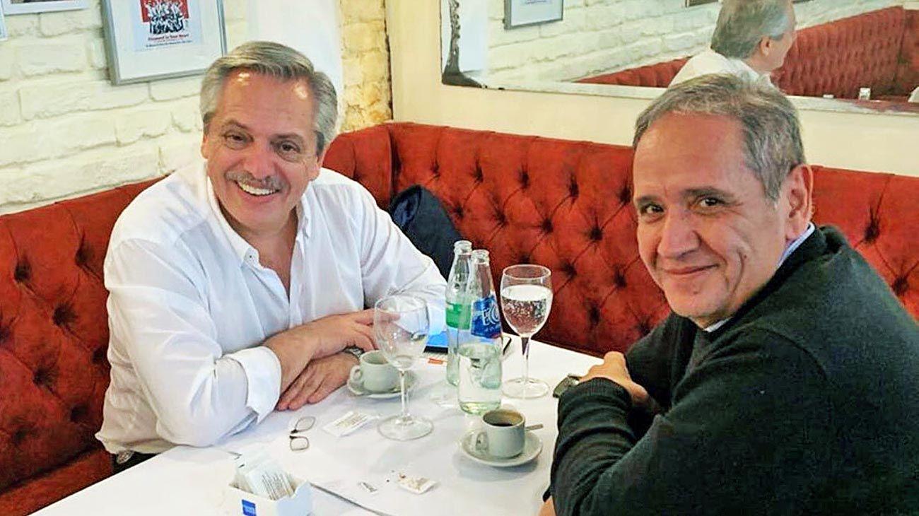 Palazzo. Ayer se reunió con el líder de la Corriente Sindical.
