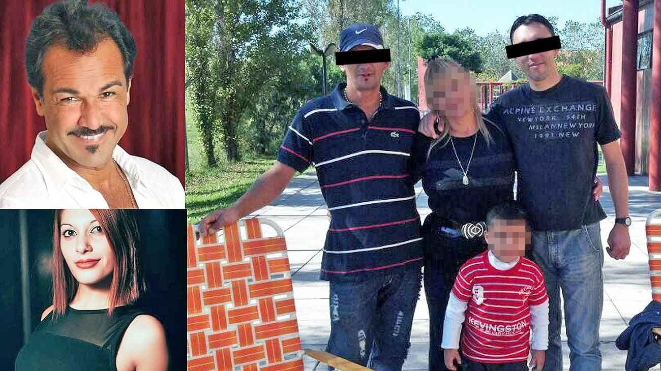 Retratos. Las víctimas, Leonardo Fernández y su pareja Jessica (izq.). Los acusados, Roberto Alegre y Rubén Grasso (der.).