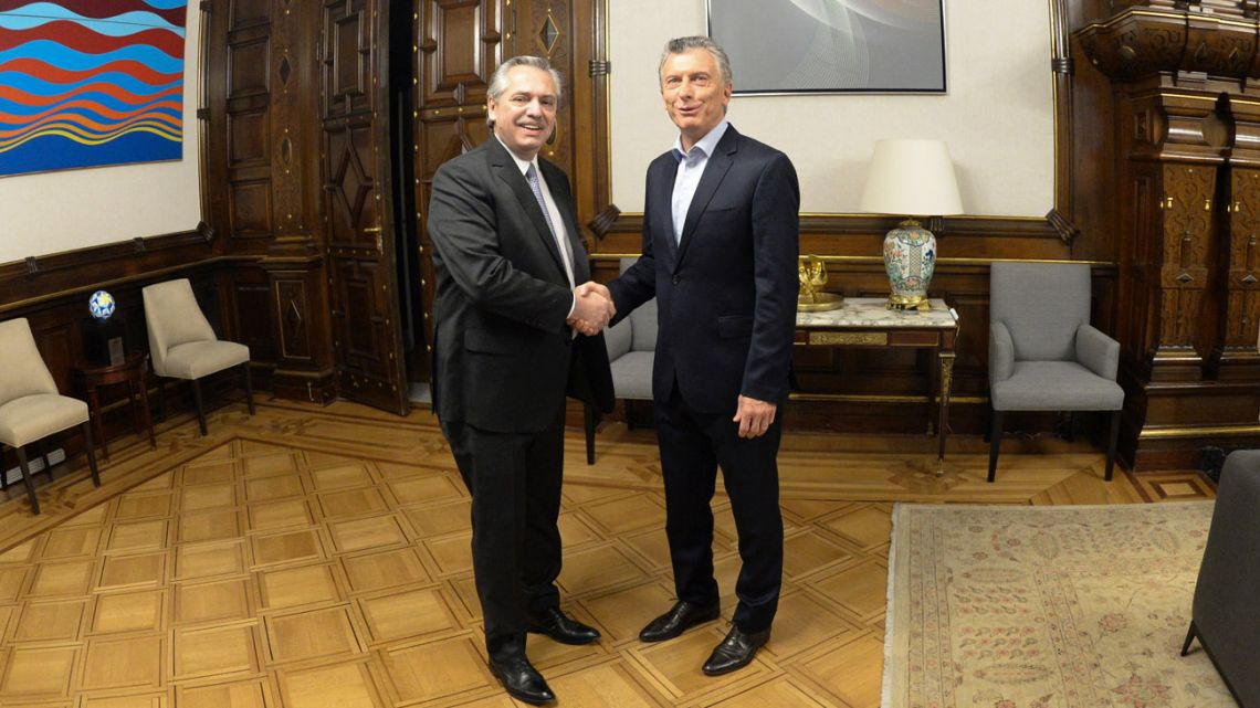 New elected president Alberto Fernandez met with President Mauricio Macri the day after elections.